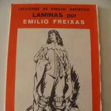 Arte: EMILIO FREIXAS. LÁMINAS DIBUJO ARTÍSTICO, SERIE ROJA 15, FIGURAS. MESEGUER, BARCELONA. AÑO 1964. Lote 159005477