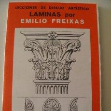 Arte: EMILIO FREIXAS. LÁMINAS DIBUJO ARTÍSTICO, SERIE ROJA 17, ORNAMENTAL I. MESEGUER, BARCELONA. AÑO 1964. Lote 151068685