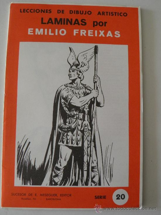 EMILIO FREIXAS. LÁMINAS DIBUJO ARTÍSTICO, SERIE ROJA 20, FIGURAS. MESEGUER, BARCELONA. AÑO 1964 (Arte - Material de Bellas Artes)