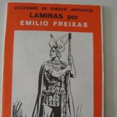 Arte: EMILIO FREIXAS. LÁMINAS DIBUJO ARTÍSTICO, SERIE ROJA 20, FIGURAS. MESEGUER, BARCELONA. AÑO 1964. Lote 151068844