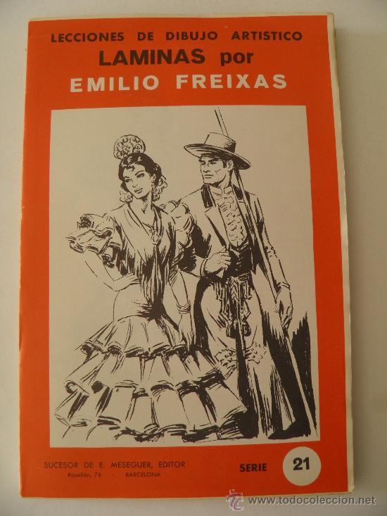 EMILIO FREIXAS. LÁMINAS DIBUJO ARTÍSTICO, SERIE ROJA 21, REGIONALES. MESEGUER, BARCELONA. AÑO 1964 (Arte - Material de Bellas Artes)