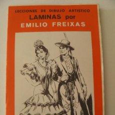 Arte: EMILIO FREIXAS. LÁMINAS DIBUJO ARTÍSTICO, SERIE ROJA 21, REGIONALES. MESEGUER, BARCELONA. AÑO 1964. Lote 159005086
