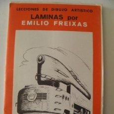 Arte: EMILIO FREIXAS. LÁMINAS DIBUJO ARTÍSTICO, SERIE ROJA 29, FERROCARRILES. MESEGUER, BARCELONA. 1964. Lote 148733264