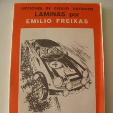 Arte: EMILIO FREIXAS. LÁMINAS DIBUJO ARTÍSTICO, SERIE ROJA 40, AUTOMOVILES. MESEGUER, BARCELONA. AÑO 1964. Lote 148733956
