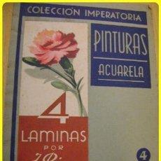 Arte: COLECCION IMPERATORIA Nº 4 - PINTURAS - ACUARELA - 4 LÁMINAS - J. RIERA - ED. SALVATELLA.. Lote 41534416