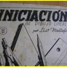 Arte: LUIS MALLAFRÉ, INICIACIÓN AL DIBUJO LINEAL. CUADERNO 5. EDITORIAL ROMA. Lote 41546414