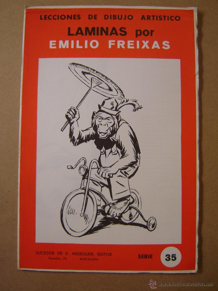 LECCIONES DE DIBUJO ARTÍSTICO - LAMINAS SERIE 35 - EMILIO FREIXAS (Arte - Material de Bellas Artes)