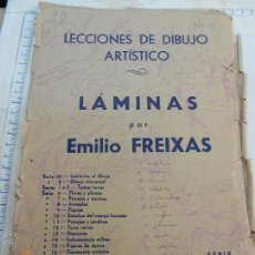 Arte: LECCIONES DE DIBUJO ARTISTICO LOTE 12 LAMINAS EMILIO FREIXAS SERIE 21 TRAJES TIPICOS REGIONALE NJ-H. Lote 43989256