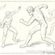 Lecciones de dibujo artístico EMILIO FREIXAS - Esgrima, Cuerpo Humano, Hombre - SERIE IV 8