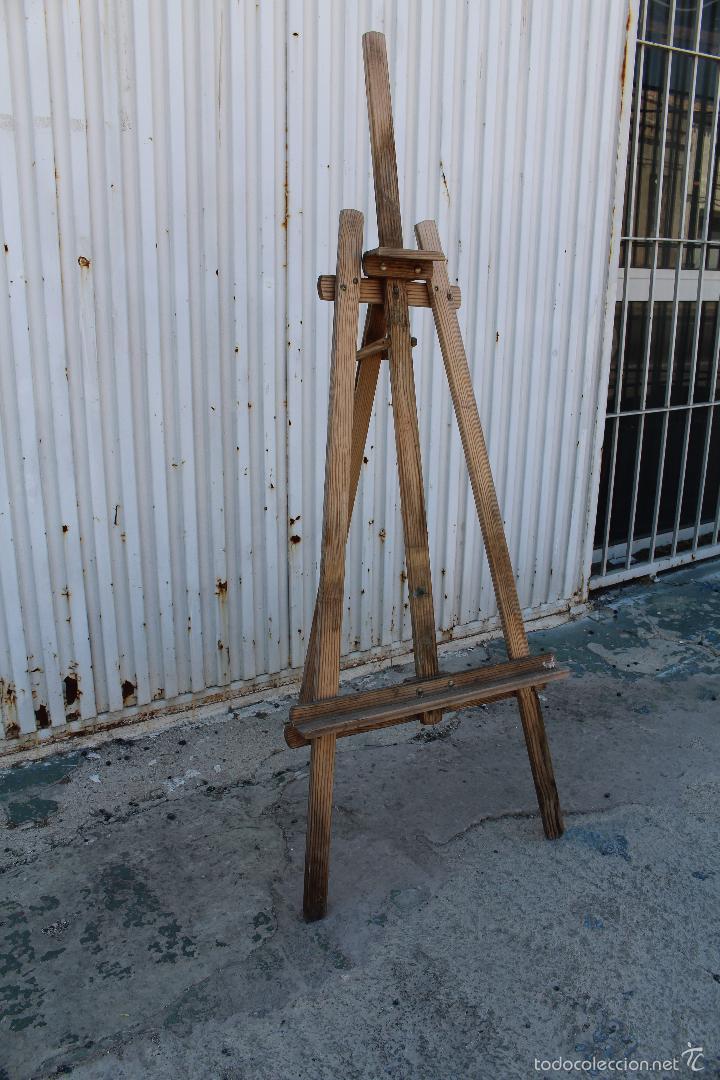 Arte: caballete de pintor en madera - Foto 2 - 58085202