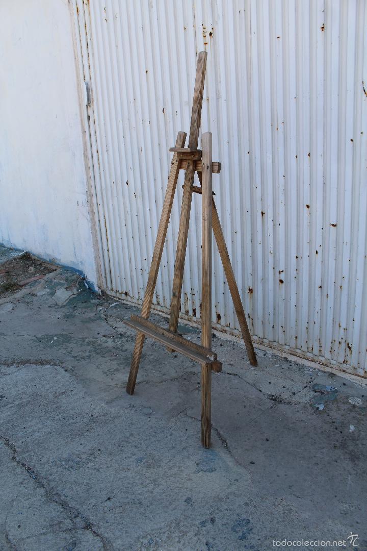 Arte: caballete de pintor en madera - Foto 3 - 58085202