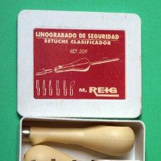 Arte: LINOGRABADO DE SEGURIDAD ESTUCHE CLASIFICADOR. Lote 82702380