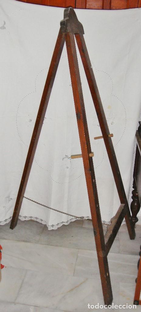 Arte: Antiguo Caballete de Pintor o para Exponer. Madera. - Foto 3 - 86666444