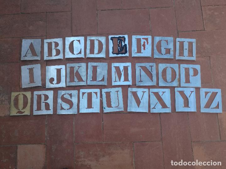 Antigua Plantilla Metal Para Pintar Letras Ta Comprar Material