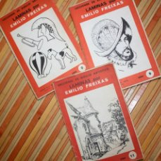 Arte: 3 SERIES DE LÁMINAS DE DIBUJO. LECCIONES DIBUJO ARTÍSTICO LÁMINAS POR EMILIO FREIXAS. NÚM. 0, 9 Y 11. Lote 94961895