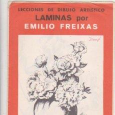 Arte: LECCIONES DE DIBUJO ARTÍSTICO. LÁMINAS POR EMILIO FREIXAS. SERIE ROJA Nº 6.. Lote 95960111