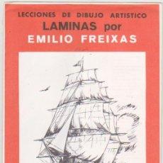 Arte: LECCIONES DE DIBUJO ARTÍSTICO. LÁMINAS POR EMILIO FREIXAS. SERIE Nº 25.. Lote 95960587