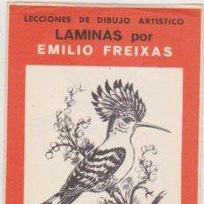 Arte: LECCIONES DE DIBUJO ARTÍSTICO. LÁMINAS POR EMILIO FREIXAS. SERIE Nº 46.. Lote 95961507