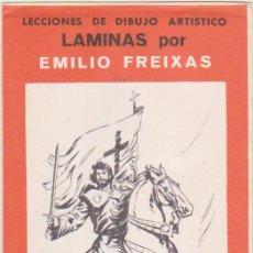 Arte: LECCIONES DE DIBUJO ARTÍSTICO. LÁMINAS POR EMILIO FREIXAS. SERIE Nº 23.. Lote 95961791