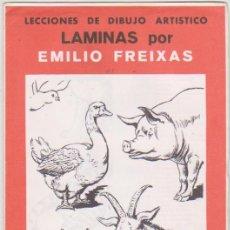 Arte: LECCIONES DE DIBUJO ARTÍSTICO. LÁMINAS POR EMILIO FREIXAS. SERIE Nº 31.. Lote 95962259