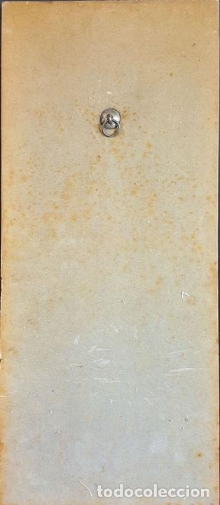 Arte: LA SANTA CENA. METAL ESMALTADO. REMATES EN PLATA. BASE DE MADERA. SIGLO XX. - Foto 2 - 99363867