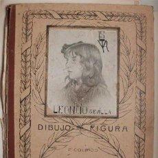 Arte: ANTIGUA CARPETA GRANDE DIBUJO DE FIGURAS. P. COLLADO. LEONCIO SEVILLA. SELLO DE LIB. CERVANTES VIGO . Lote 102030267