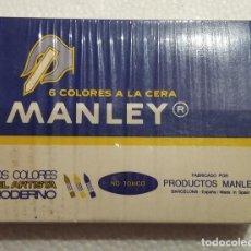 Arte: MANLEY, CAJA DE 6 COLORES A LA CERA AÑOS 70-80. Lote 102558391