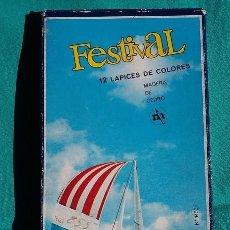 Arte: FESTIVAL. CAJA DE 12 LAPICES DE COLORES AÑOS 70. Lote 103638511