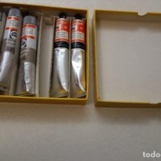 Arte: 5 TUBOS COLORES AL ÓLEO . 3 TUBOS MARCA TALENS 60ML ROJO CADMIO. 2 TUBOS TITAN ESCARLATA 60 ML . Lote 112826995