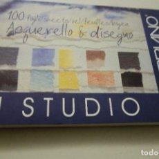 Arte: BLOC STUDIO FABRIANO. 100 HOJAS ACUARELA. SIN ACIDO . 24X33CM.. Lote 112827287