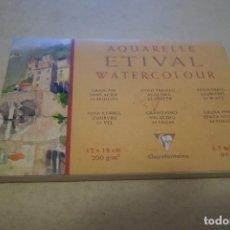 Arte: AQUARELLE ETIVAL WATERCOLOUR. 12X18 CM. 200 G/M2 CLAIREFONTAINE. Lote 113032651