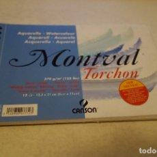 Arte: ACUARELA WATERCOLOUR. MONTVAL TORCHON. CANSON. Lote 113032723
