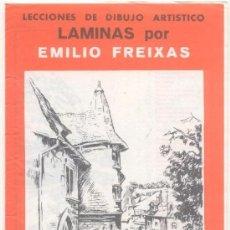 Arte: 12 LÁMINAS DIBUJO ARTÍSTICO -EMILIO FREIXAS. Lote 137132094