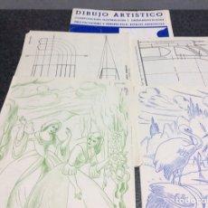 Arte: DIBUJO ARTISTICO - CARPETA CON 20 LAMINAS. Lote 119212743