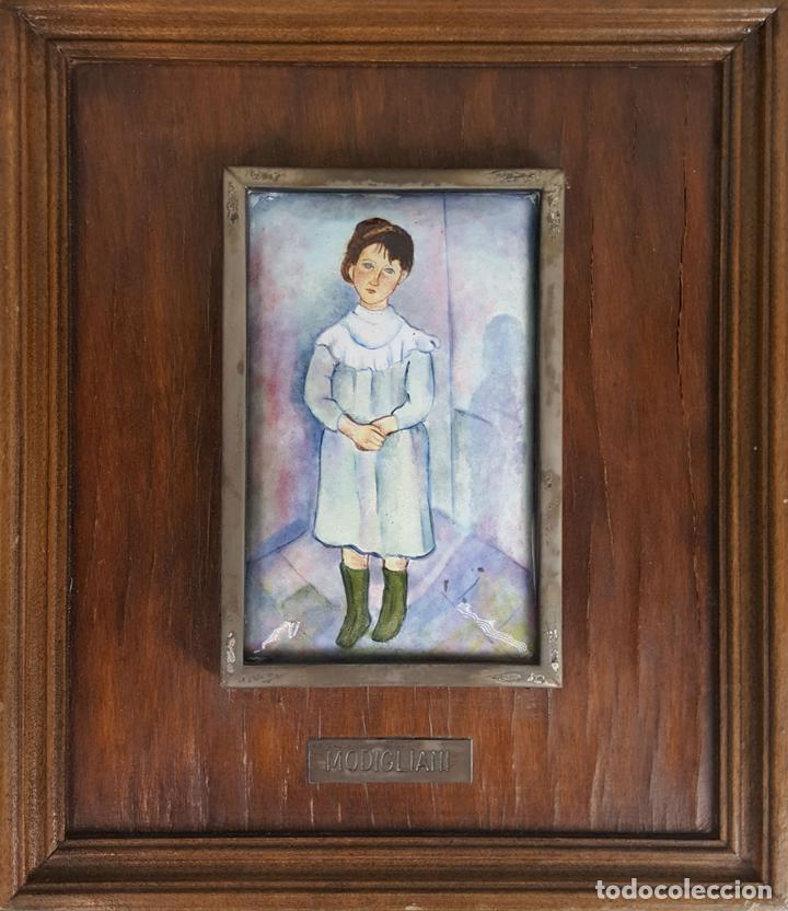 retrato de joven. esmalte sobre metal. marco de - Comprar Material ...
