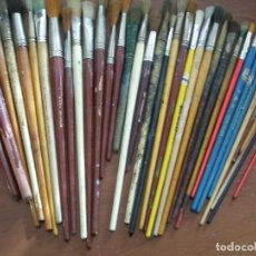 Arte: COLECCIÓN DE PINCELES Y BROCHAS (37 EN TOTAL). Lote 121157431