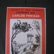 Arte: CARPETA DE LAMINAS DE DIBUJO EMILIO FREIXAS SERIE ROJA NÚMERO 7. Lote 155719105