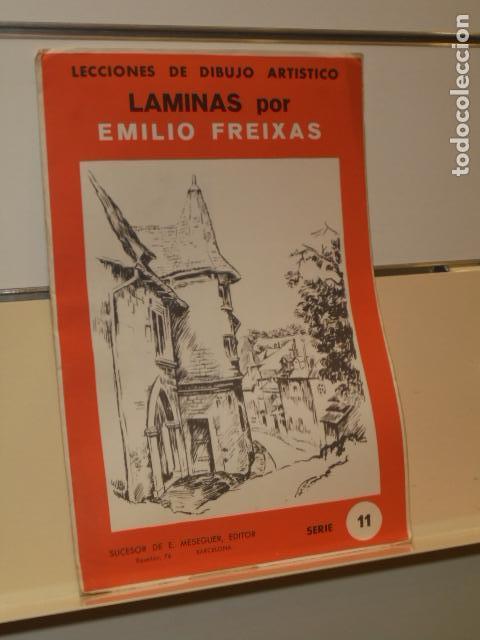 LECCIONES DE DIBUJO ARTISTICO LAMINAS POR EMILIO FREIXAS SERIE 11 PAISAJES Y JARDINES (Arte - Material de Bellas Artes)