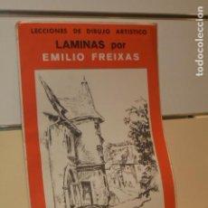 Art: LECCIONES DE DIBUJO ARTISTICO LAMINAS POR EMILIO FREIXAS SERIE 11 PAISAJES Y JARDINES. Lote 136740350