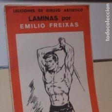 Arte: LECCIONES DE DIBUJO ARTISTICO LAMINAS POR EMILIO FREIXAS SERIE 10 ESTUDIOS DEL CUERPO HUMANO. Lote 136740498