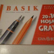 Arte: BASIK. DIBUJO ESCOLAR. BLOC 20 HOJAS + 10 HOJAS GRATIS- 23 X32,5 CMS . 130 GR/ M2. Lote 138962934