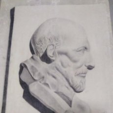Arte: LÁMINA PINTOR J. PANTOJO ESCUELA DE ALGECIRAS DE ARTE. 1937.RAMON Y CAJAL.DIBUJO. PINTURA. CUADRO.. Lote 140617590