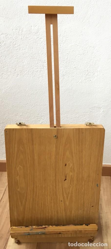 MAGNIFICA CAJA DE PINTURAS - CABALLETE DE MESA PARA ARTISTA PINTOR, CON 16 TUBOS DE PINTURA ACRILICA (Arte - Material de Bellas Artes)