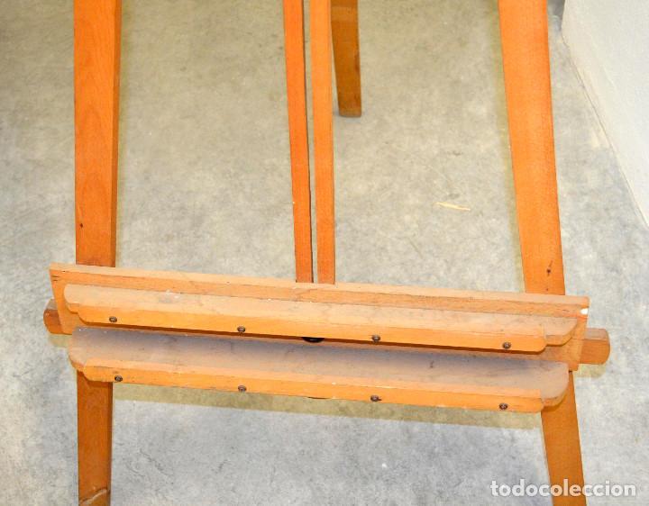 Arte: Antiguo caballete madera. Años 70. - Foto 2 - 144608410