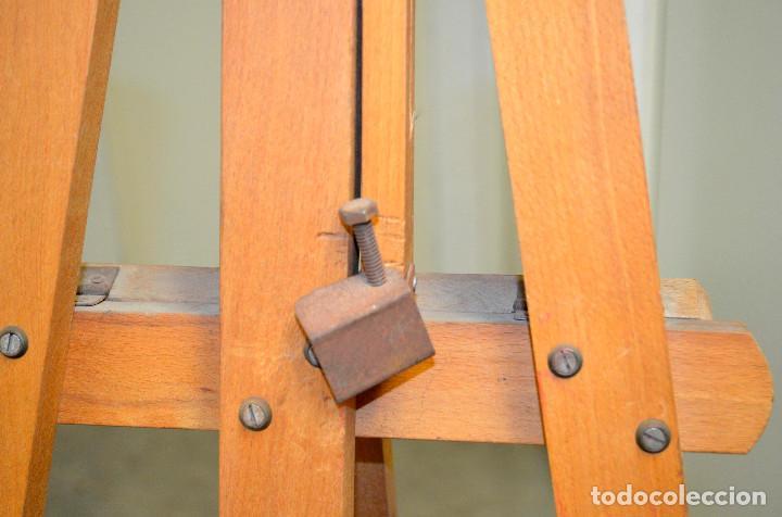 Arte: Antiguo caballete madera. Años 70. - Foto 3 - 144608410