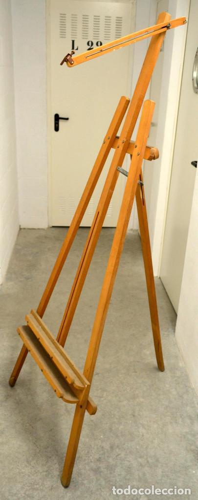Arte: Antiguo caballete madera. Años 70. - Foto 4 - 144608410