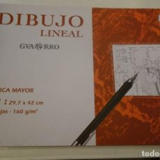 Arte: CANSON- DIBUJO LINEAL GUARRO. MARCA MAYOR. A3 :29.7 X 42 CM 10 HOJAS - 160 G /M2. Lote 147035014