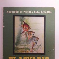 Arte: ANTIGUO CUADERNO DE PINTURA PARA ACUARELA.. Lote 147764044
