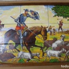 Arte: ESCENA DEL QUIJOTE,-ANTIGUO PLAFON DE AZULEJOS PINTADOS AL OLEO AÑOS 60!!!. Lote 151548034