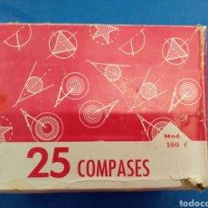 Arte: LOTE 10 COMPASES CON SU CAJA MARCA EDE MOD. 160 , AÑOS 1960-70. Lote 152183734
